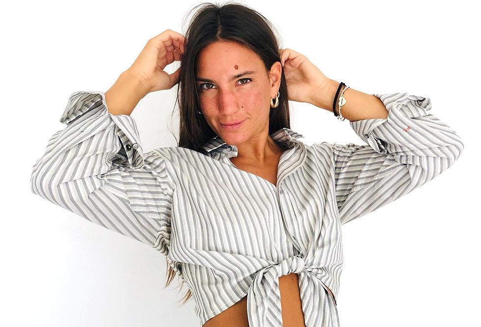 camicia-righe-annodata-vintage