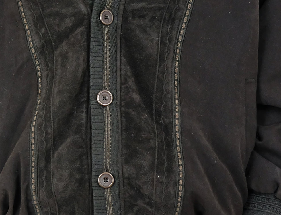 maglione-cardigan-oversize-pelle-scamosciata-vintage