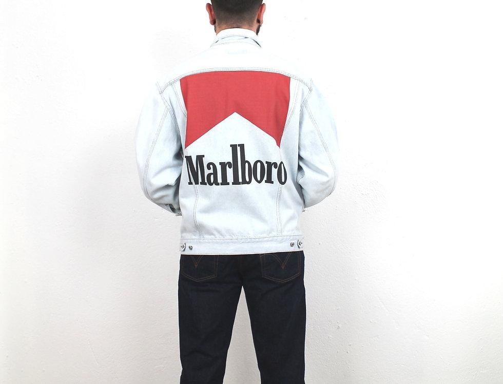giacca-jeans-denim-customizzata-marlboro-vintage