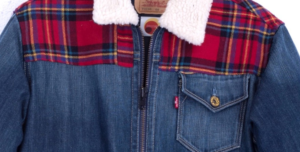 giacca-sherpa-levis-jeans-imbottita-check-vintage