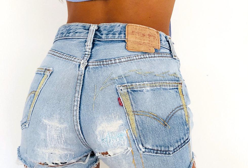 shorts-denim-jeans-levis-dipinti-vintage
