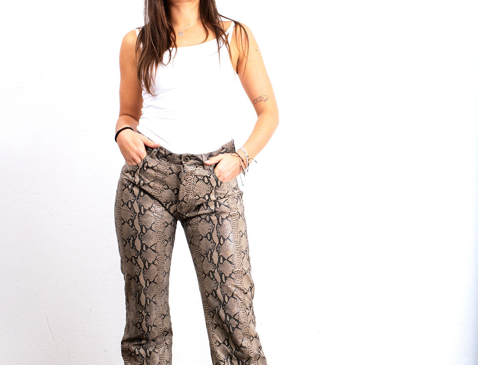 pantalone-pelle-pitonata-vintage
