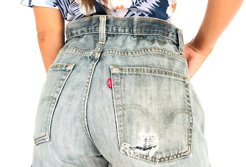 shorts-denim-jeans-caramella-levis-vintage