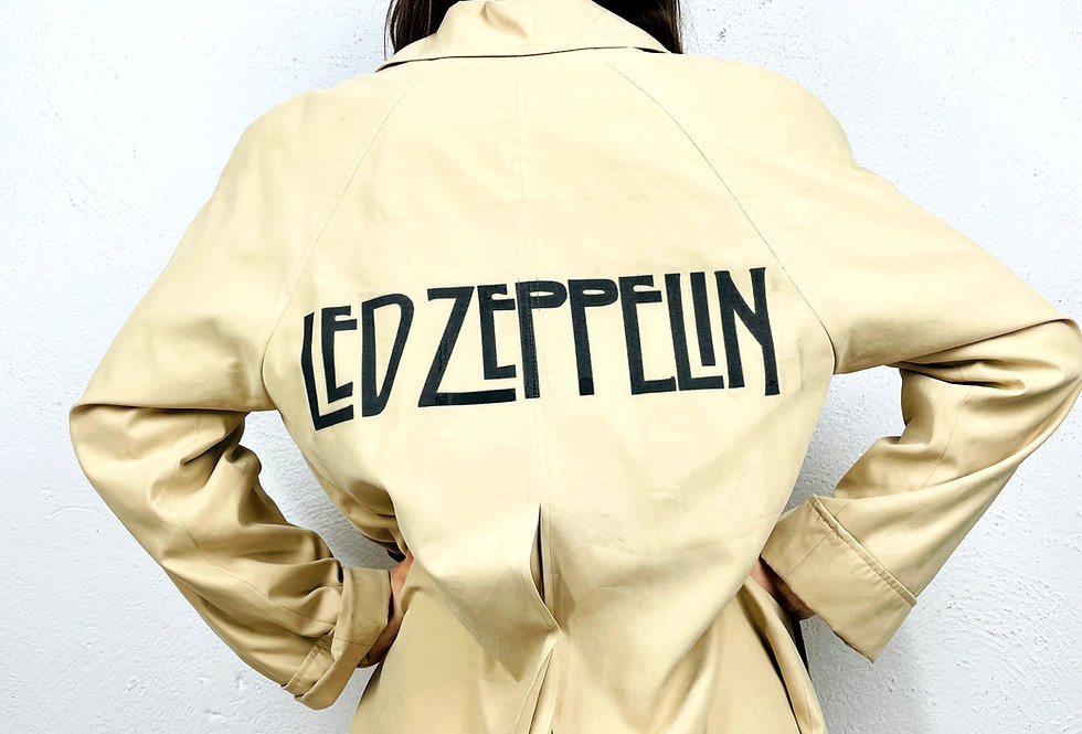 trench-customizzato-led-zepplin-vintage