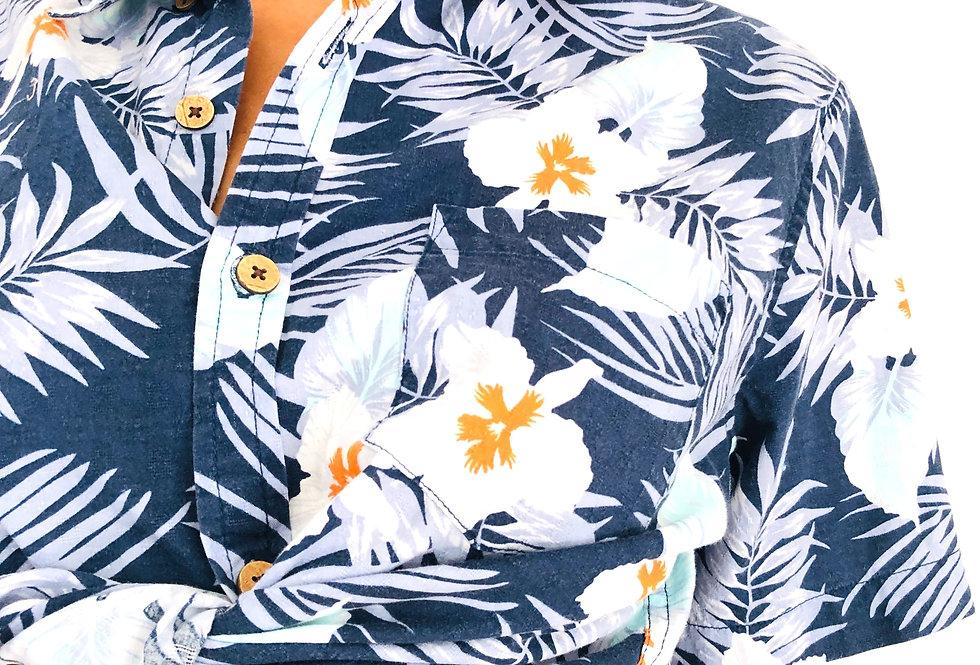 camicia-crop-fantasia-fiori-abbottonata-vintage