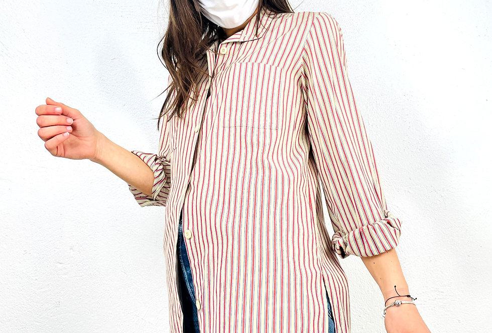 camicia-righe-modello-lungo-vintage