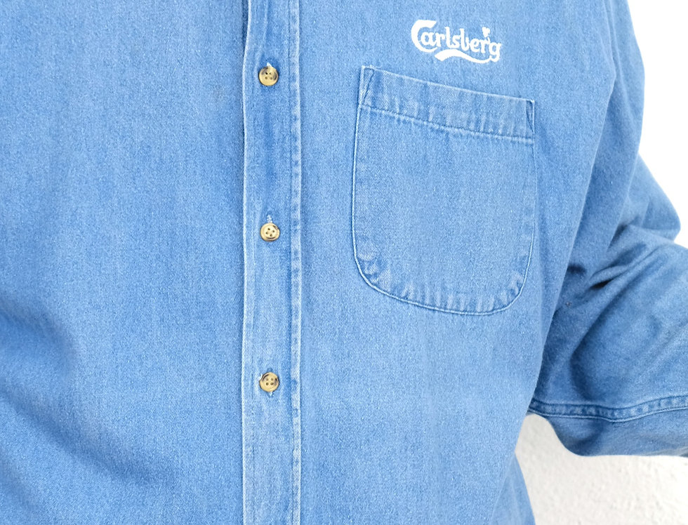 camicia-jeans-carlsberg-vintage