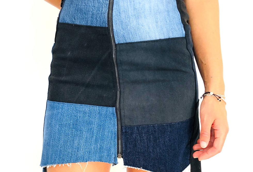 gonna-jeans-patchwork-zip-vintage