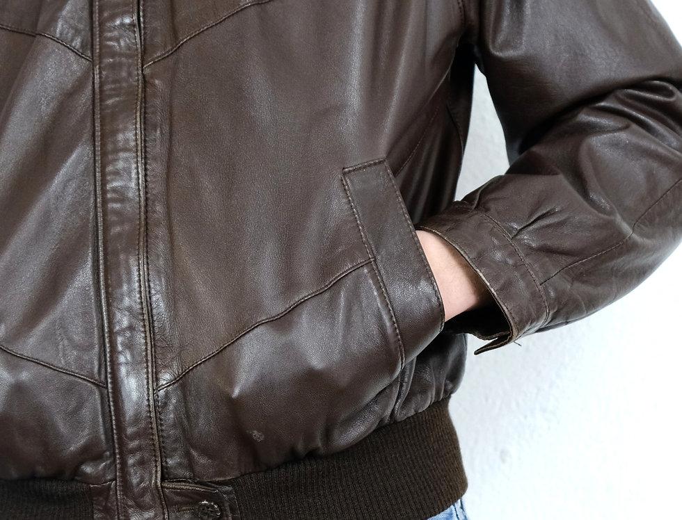 bomber-giacca-vera-pelle-vintage