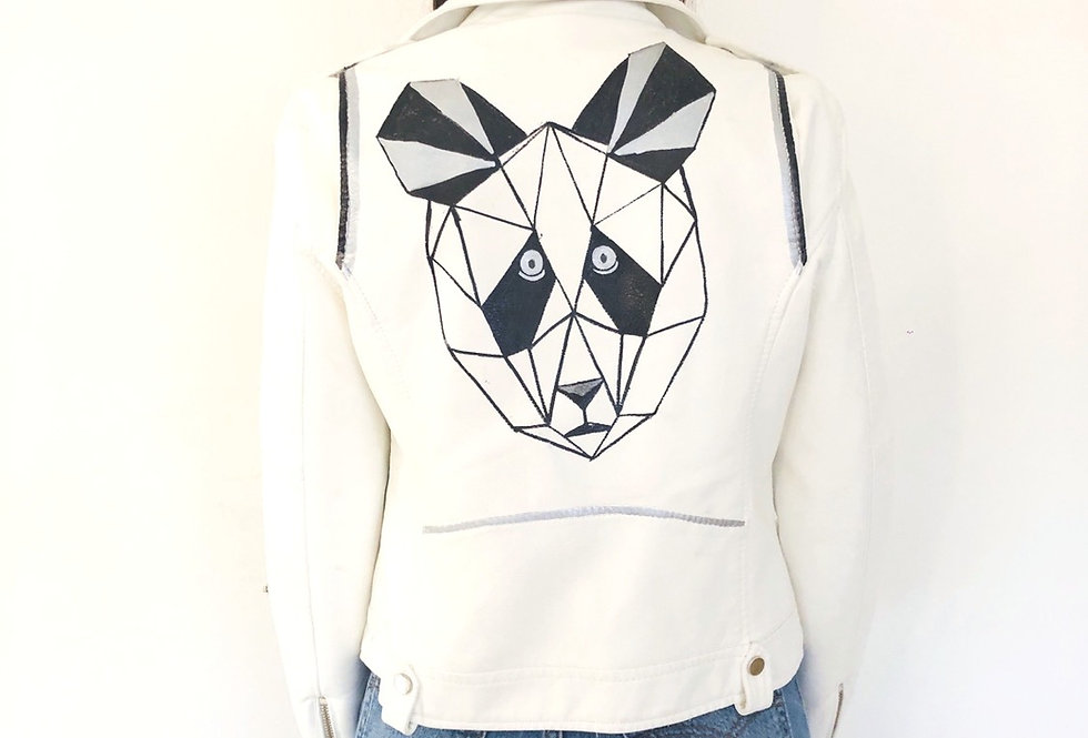 giacca-eco-pelle-vintage-dipinto-panda