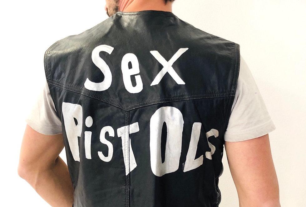 gilet-pelle-sex-pistols-vintage