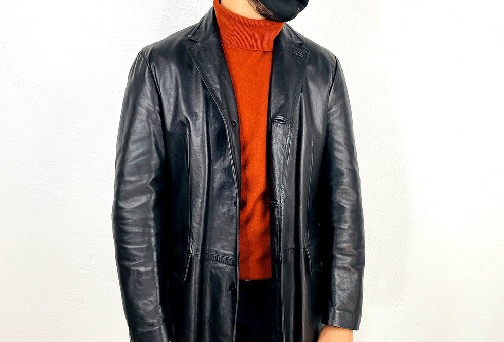 giacca-blazer-vera-pelle-vintage