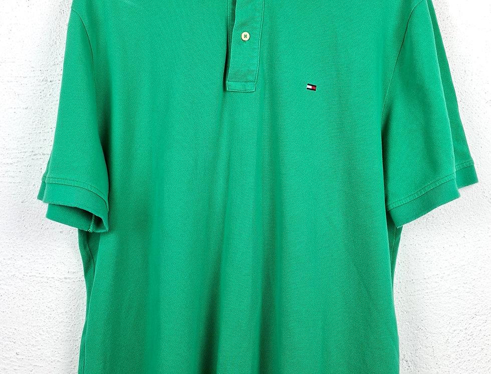 polo-tommy-hilfigher-verde-vintage