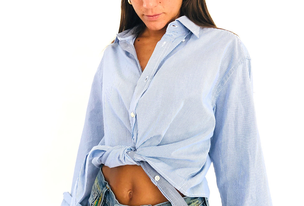 camicia-righe-annodata-manica-lunga-vintage