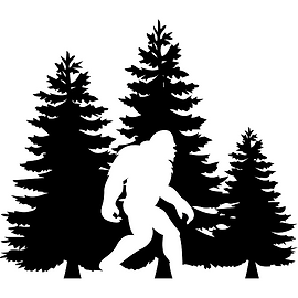 2019 SEMINARS BIGFOOT BLACK WHITE TREES.