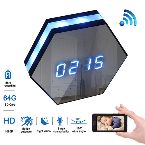 Wifi Spy Clock Camera with 6Ir Night Vision