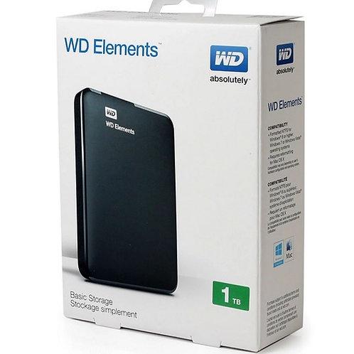 WD Elements 1TB. Portable Hardisk Black