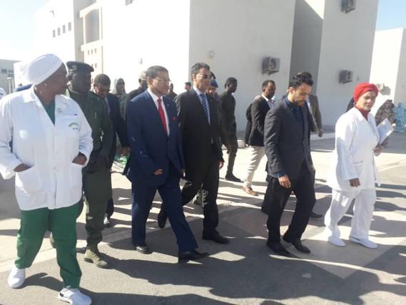 Visite du son excellence Monsieur le Ministre de la Santé, Dr. Mohamed Nedhirou Hamed , le 20/01/2020 du Centre Hospitalier des Spécialités de Nouadhibou