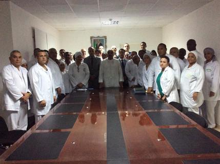 Visite du son excellence Monsieur le Président de la République islamique de Mauritanie Mohamed Ould Abdel Aziz , le 01/08/2018 au Centre Hospitalier des Spécialités de Nouadhibou