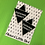Thumbnail: Black FF Triangle Earrings