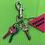 Thumbnail: Pink Triangle Key Ring