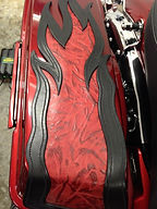 HD Touring Custom Two-tone Flame Inlaid