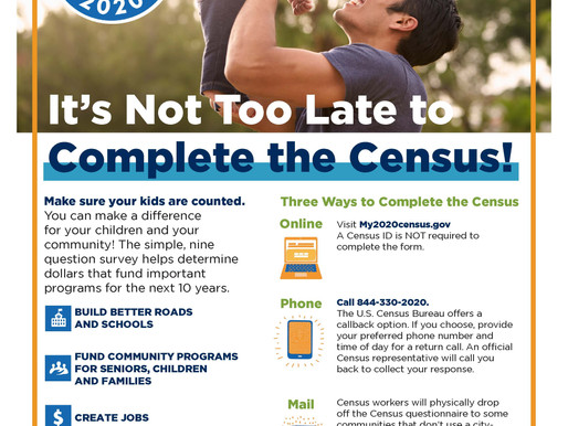 2020 Census is almost over but there is still time to get counted!