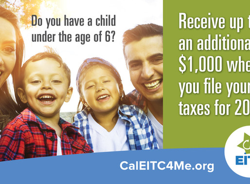 Take advantage of the New Young Child Tax Credit!