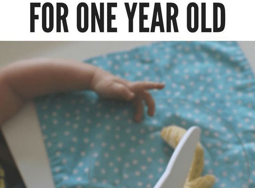 Montessori Practical Activities for One Year Olds!