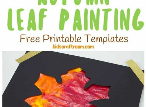 Mess Free Sensory Fall Painting Activity!