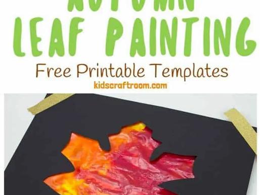 Mess Free Sensory Fall Painting Activity!