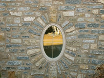 stone oval window