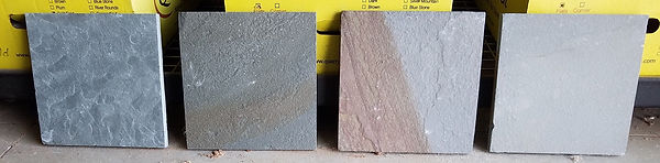 L to R: Blue natural cleft, Full color natural, Full color thermal, Blue Thermal