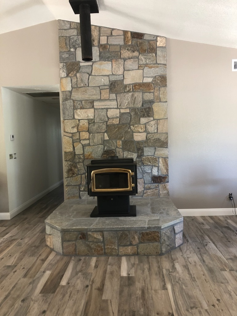 woodstove stone
