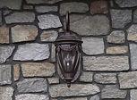 stone lamp wall