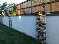 Back yard wall