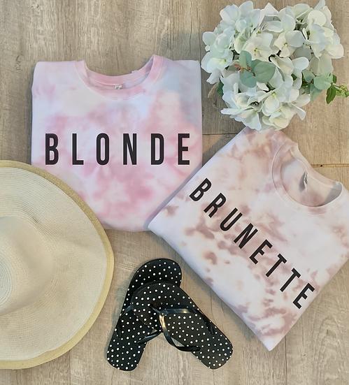 Blonde & Brunette Callie Dye Crews