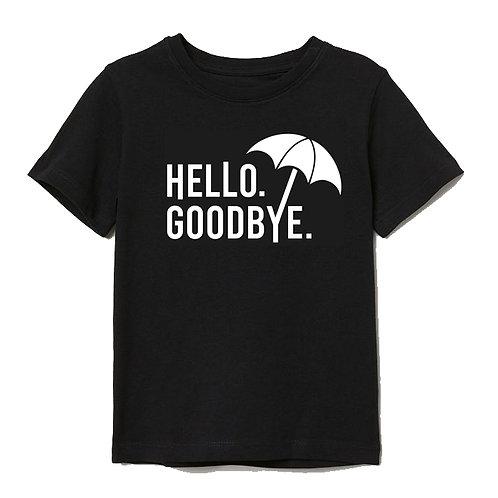 The Umbrella Academy Inspired Hello Goodbye Black Tee