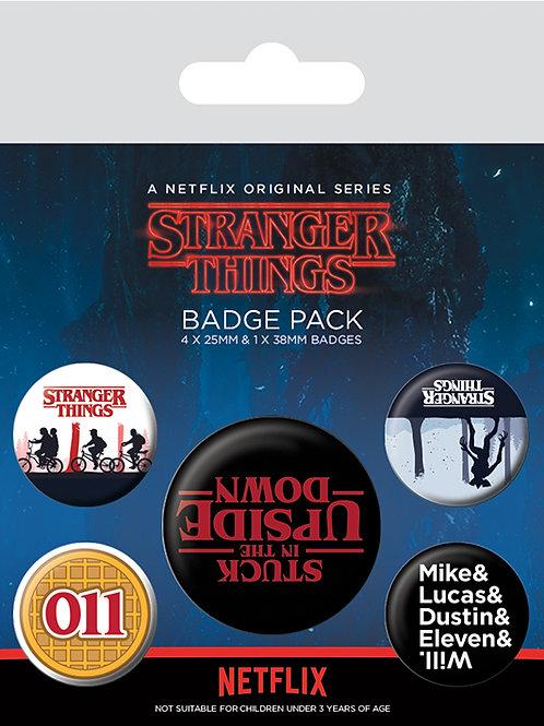 Stranger Things Upside Down Badge Pack