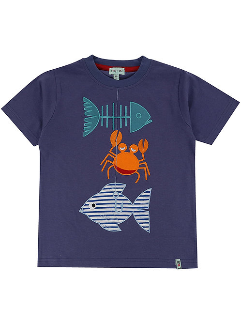 Lilly & Sid Good Catch Applique Tee