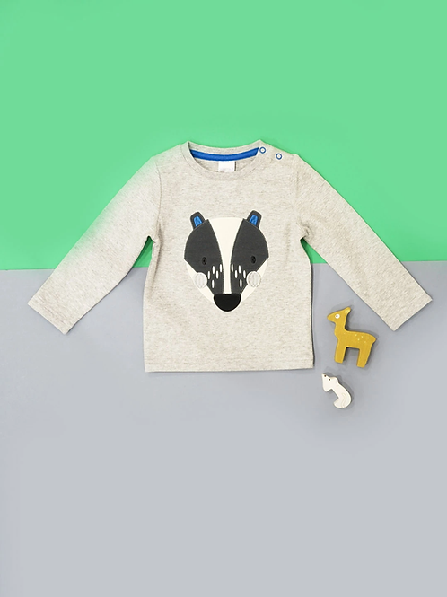Pip The Badger Blade and Rose Baby Top