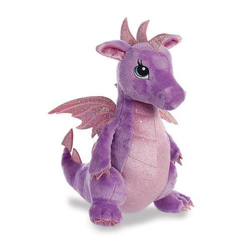 Sparkle Tales Larkspur Purple Dragon Soft Toy