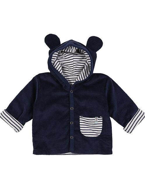 Lilly & Sid Organic Cord Bear Reversible Baby Jacket