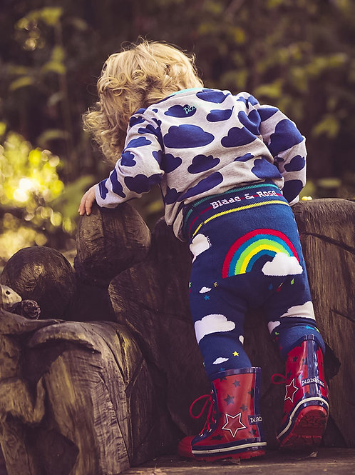 Weather Blade and Rose Baby Leggings