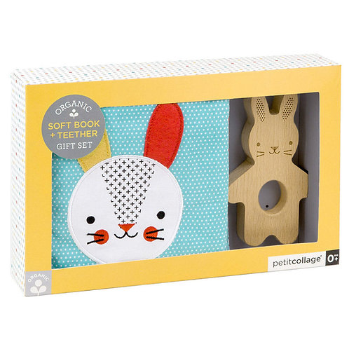 Petit Collage Organic Soft Book & Teether Set