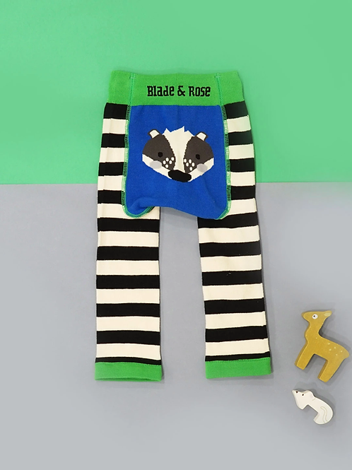 Pip The Badger Blade and Rose Baby Leggings