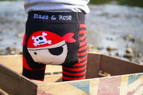 Pirate Blade and Rose Baby Leggings