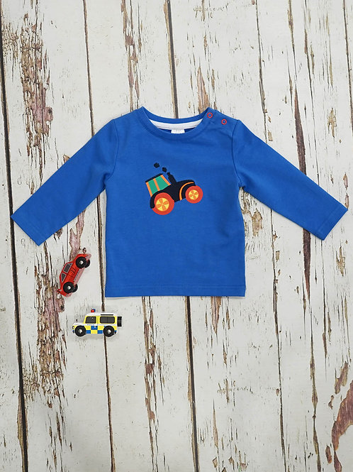 Farmyard Tractor Blade and Rose Baby Top