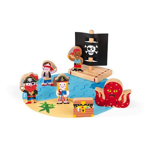Janod Wooden Story Pirate Set