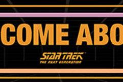 Star Trek Welcome Aboard Wooden Sign